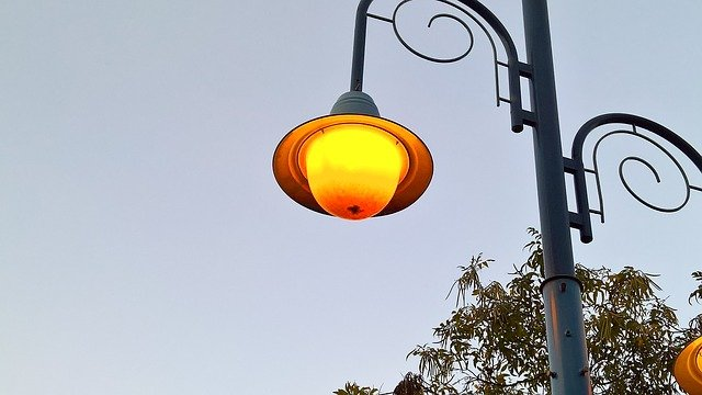 světlo lampy