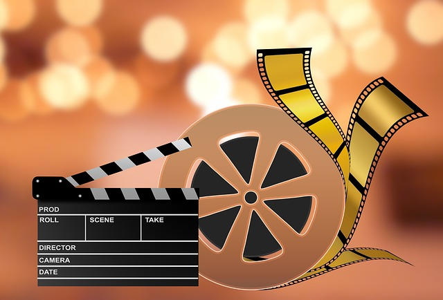 filmová klapka a pás