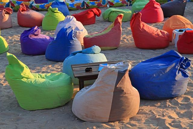 pytle na pláži