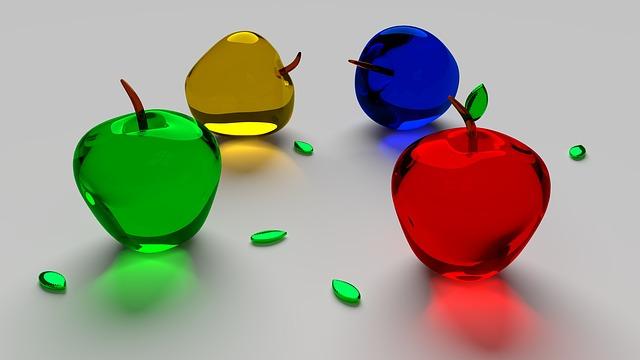 skleněná jablka