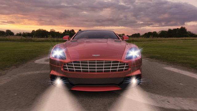 světla auta