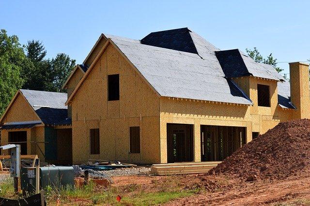 konstrukce a stavba nového domu