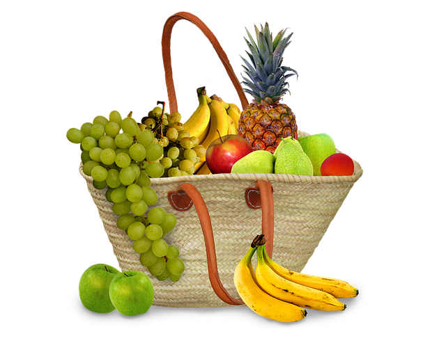Koš se zdravými potravinami